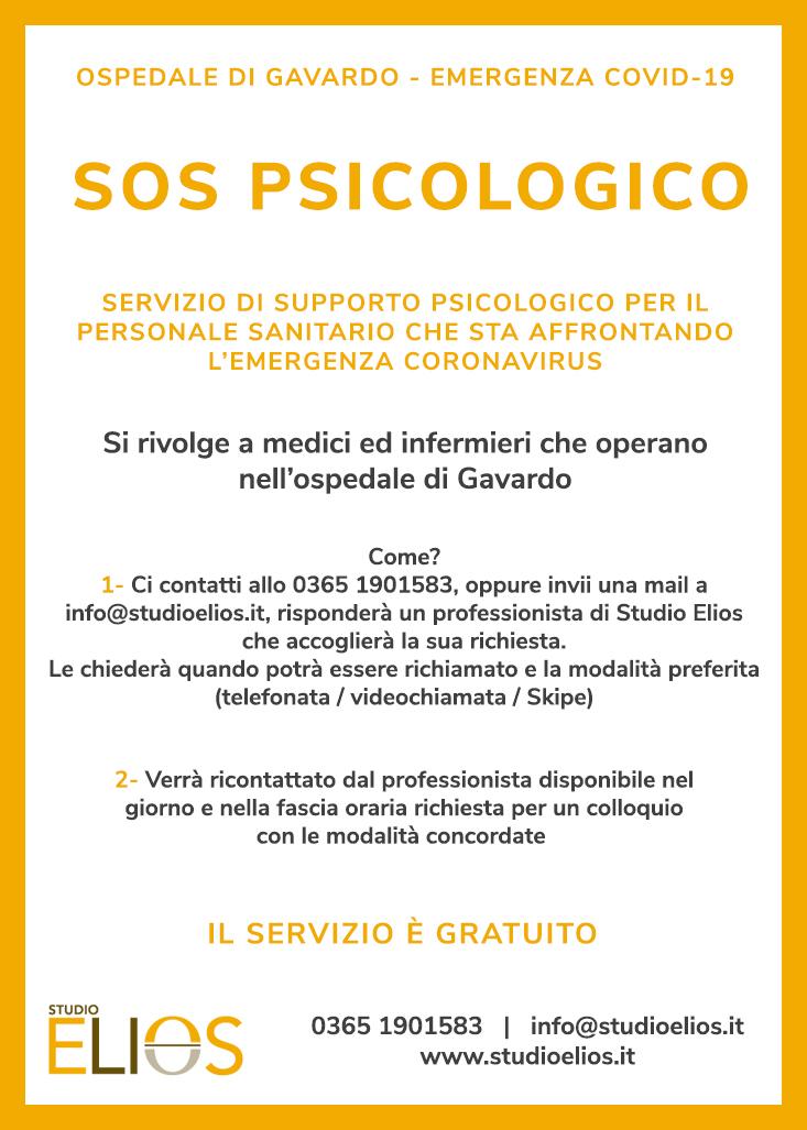 sos psicologi emergenza covid-19 ospedale gavardo - studio elios